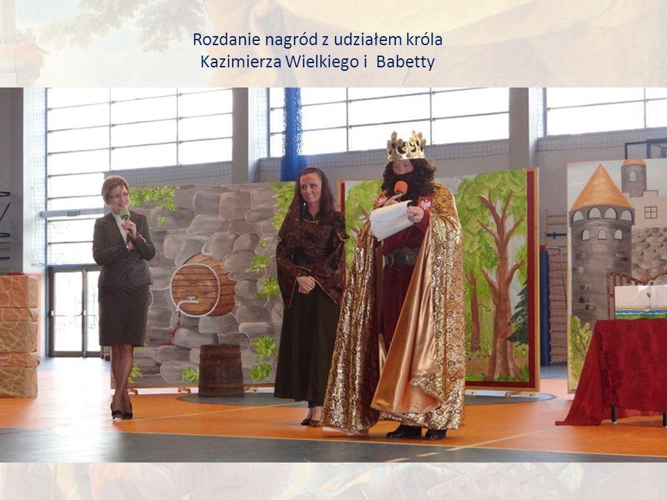 Rozdanie nagród z udziałem króla Kazimierza Wielkiego i Babetty