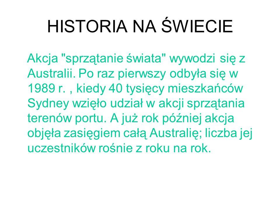 HISTORIA NA ŚWIECIE Akcja