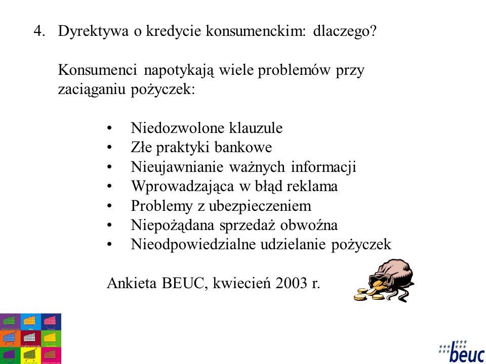 4.Dyrektywa o kredycie konsumenckim: dlaczego.