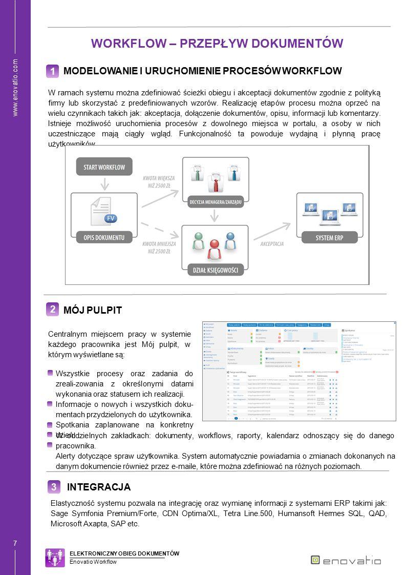www.enovatio.com 8 4 BEZPIECZEŃSTWO System dostarcza wysokiej jakości zabezpieczenia dostępu oraz opcjonalnie backupu danych.