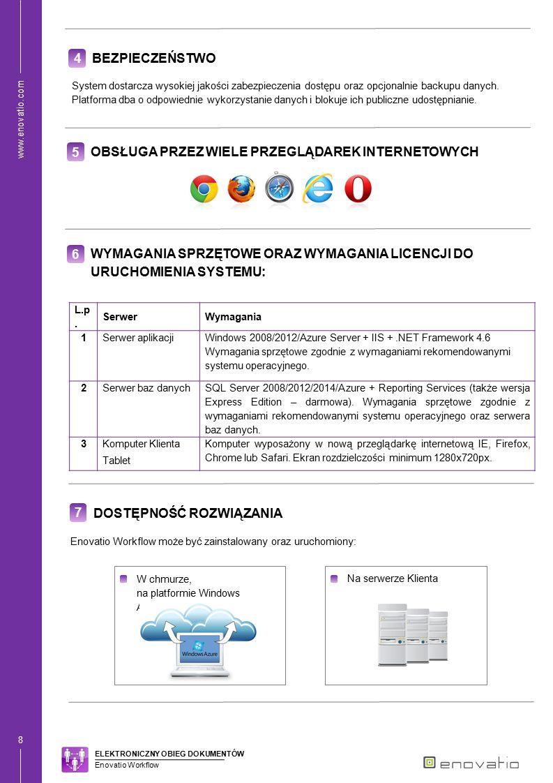 www.enovatio.com 9 8 MOŻLIWOŚĆ ROZBUDOWY SYSTEMU Istnieje możliwość rozszerzenia systemu o dodatkowe moduły: Enovatio Projects – funkcjonalność umożliwia efektywne zarzadzanie projektami oraz realizowanie ich w określonym czasie, zgodnie ze specyfikacją.