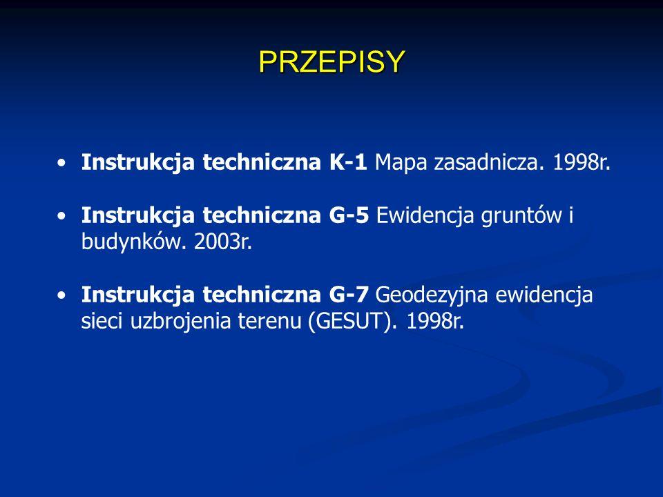 PRZEPISY Instrukcja techniczna K-1 Mapa zasadnicza.