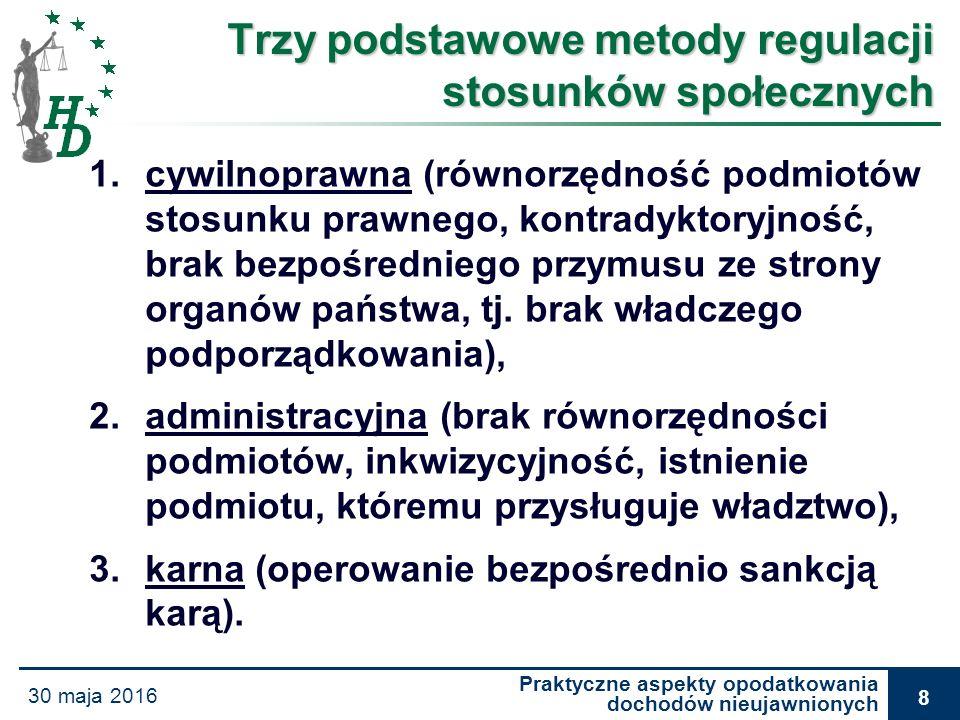 Praktyczne aspekty opodatkowania dochodów nieujawnionych 30 maja 2016 19 Wyrok WSA w Krakowie z dnia 5 czerwca 2008 r., I SA/Kr 168/07 Wyrok WSA w Krakowie z dnia 5 czerwca 2008 r., I SA/Kr 168/07 (…) Gdy okaże się, że podatnik poniósł wydatki albo zgromadził środki lub mienie przekraczające znacznie wykazany w zeznaniu podatkowym dochód, to właśnie na podatniku spoczywa ciężar bezsprzecznego i jednoznacznego wykazania, że te wydatki albo zgromadzone środki lub mienie znajdują pokrycie w określonych źródłach przychodów lub w posiadanych zasobach.