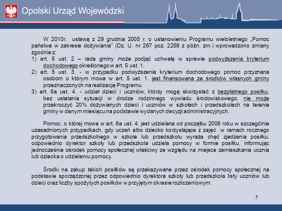 5 W 2010r. ustawą z 29 grudnia 2005 r.