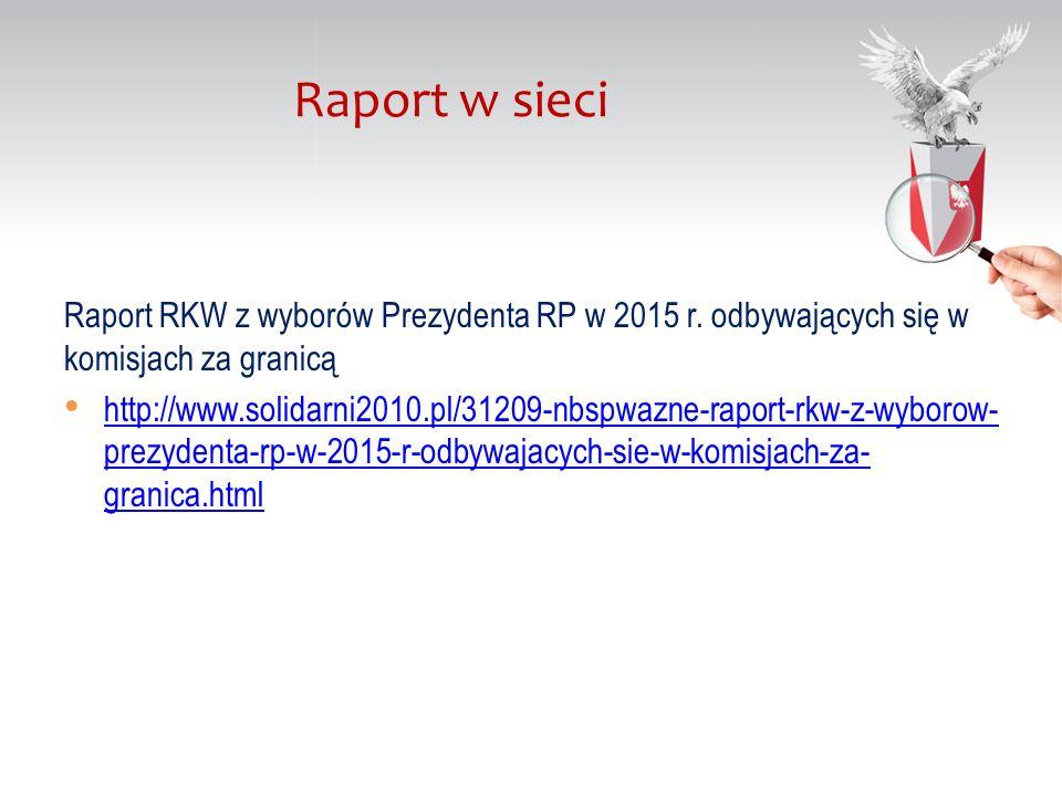 Raport RKW z wyborów Prezydenta RP w 2015 r.