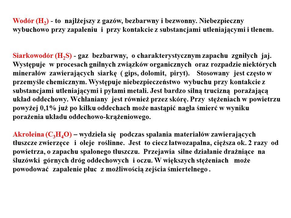 Wodór (H 2 ) - to najlżejszy z gazów, bezbarwny i bezwonny.