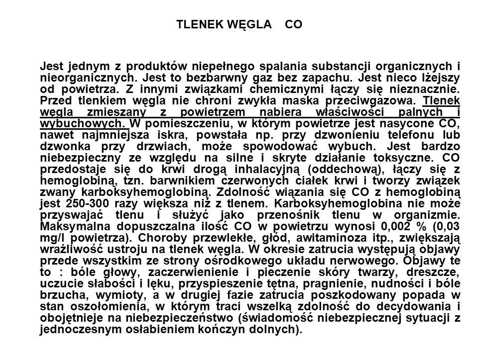 TLENEK WĘGLA CO Jest jednym z produktów niepełnego spalania substancji organicznych i nieorganicznych.