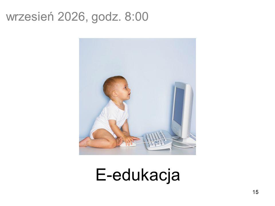15 wrzesień 2026, godz. 8:00 E-edukacja