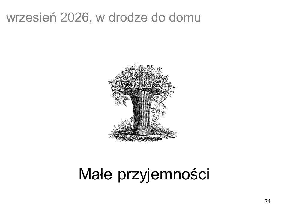 24 Małe przyjemności wrzesień 2026, w drodze do domu