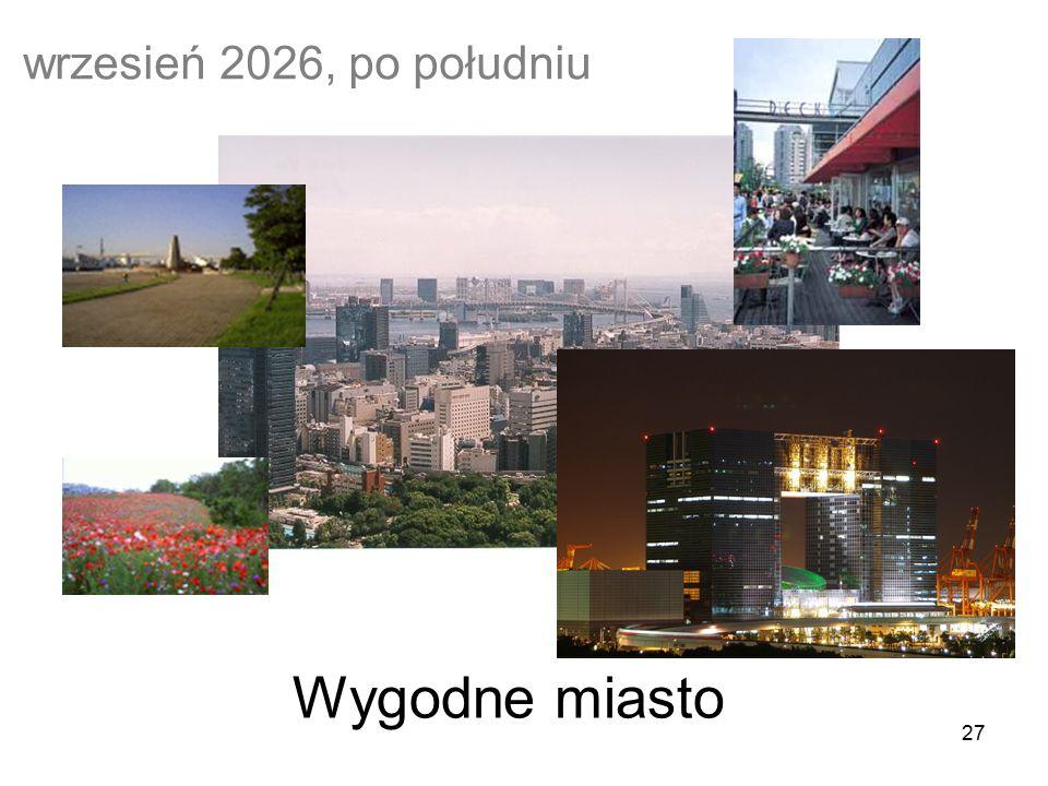 27 wrzesień 2026, po południu Wygodne miasto