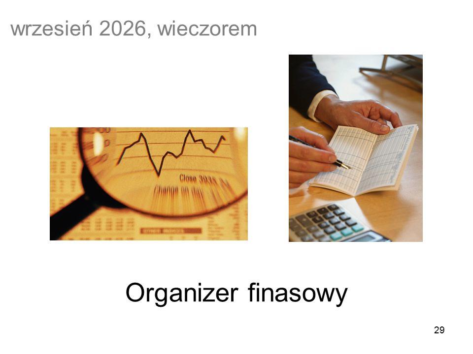 29 Organizer finasowy wrzesień 2026, wieczorem