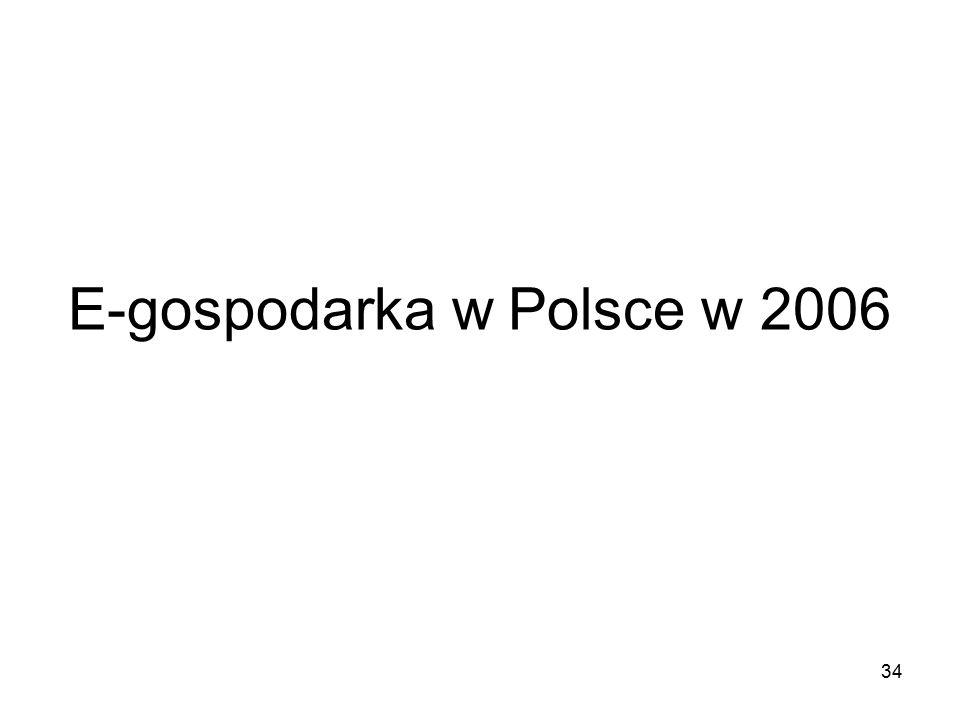 34 E-gospodarka w Polsce w 2006