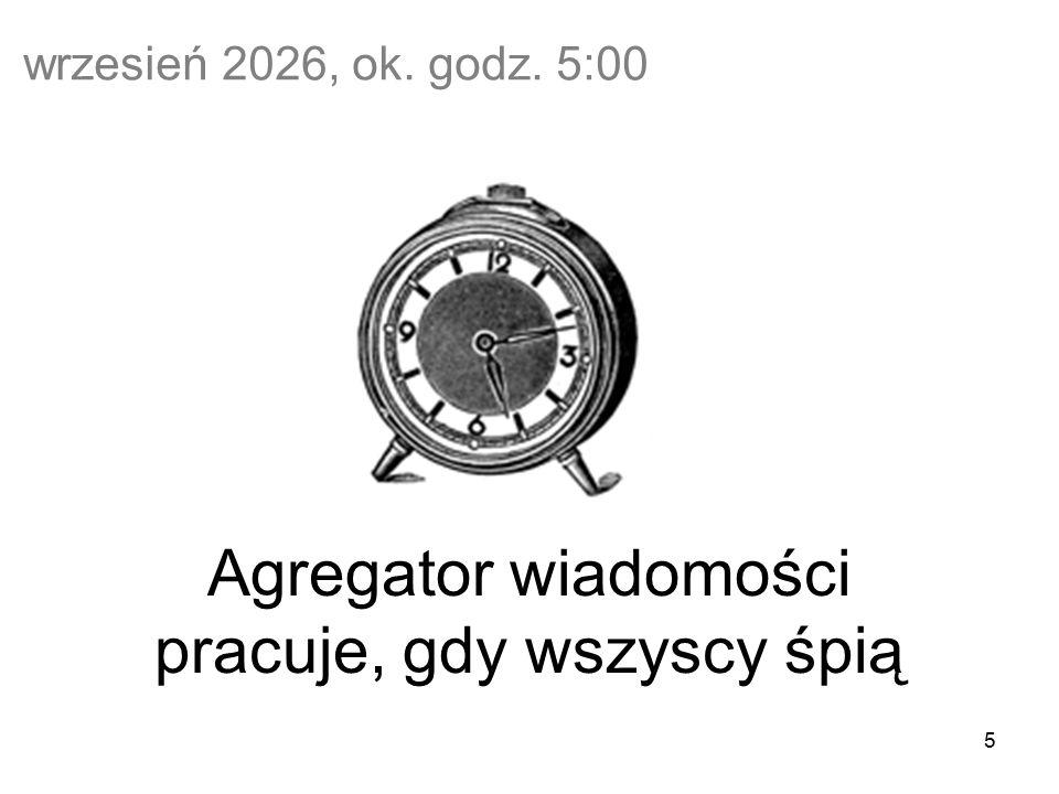 5 Agregator wiadomości pracuje, gdy wszyscy śpią wrzesień 2026, ok. godz. 5:00