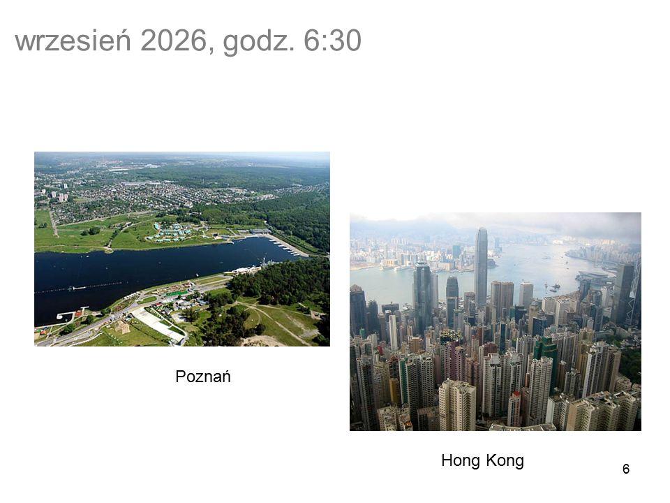 6 wrzesień 2026, godz. 6:30 Poznań Hong Kong