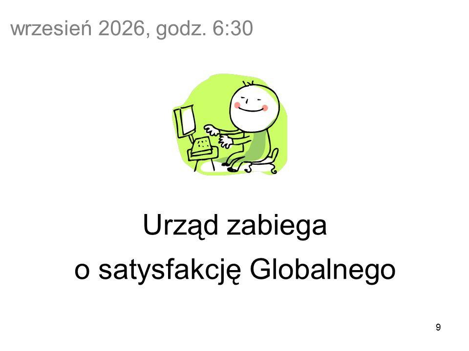 9 wrzesień 2026, godz. 6:30 Urząd zabiega o satysfakcję Globalnego