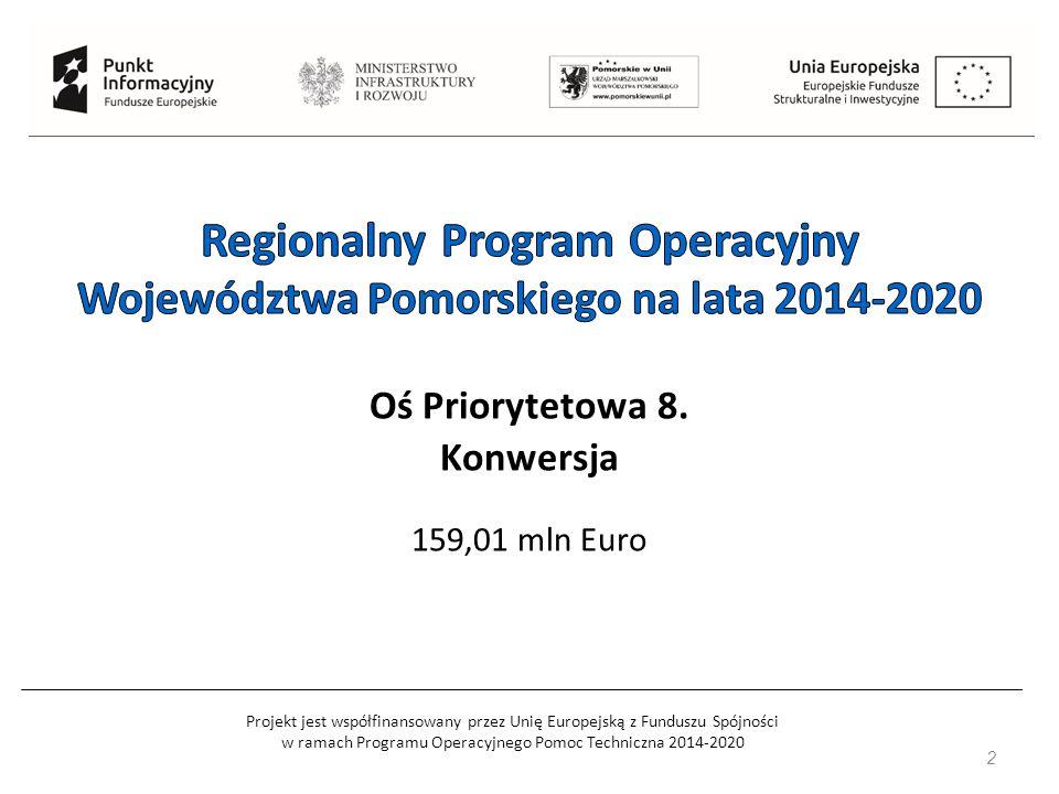 Projekt jest współfinansowany przez Unię Europejską z Funduszu Spójności w ramach Programu Operacyjnego Pomoc Techniczna 2014-2020 2 Oś Priorytetowa 8