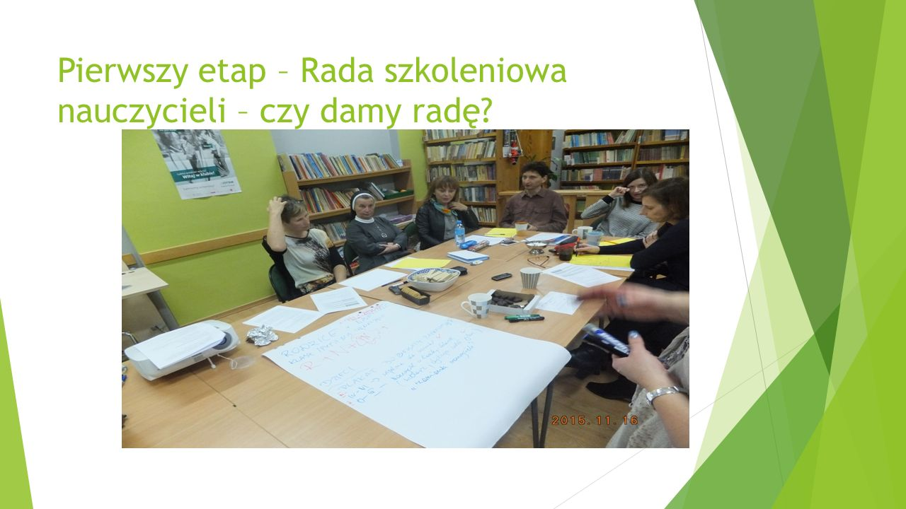 Pierwszy etap – Rada szkoleniowa nauczycieli – czy damy radę