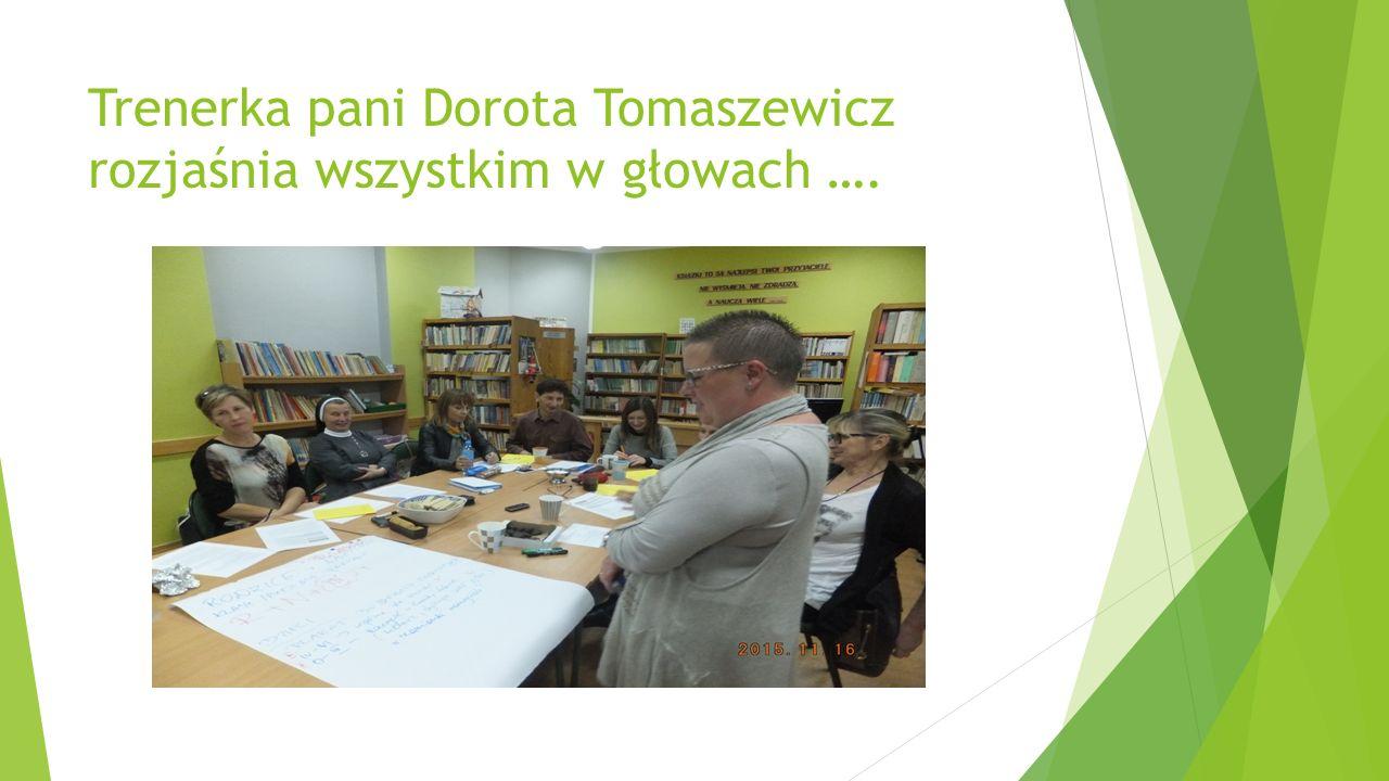 Trenerka pani Dorota Tomaszewicz rozjaśnia wszystkim w głowach ….