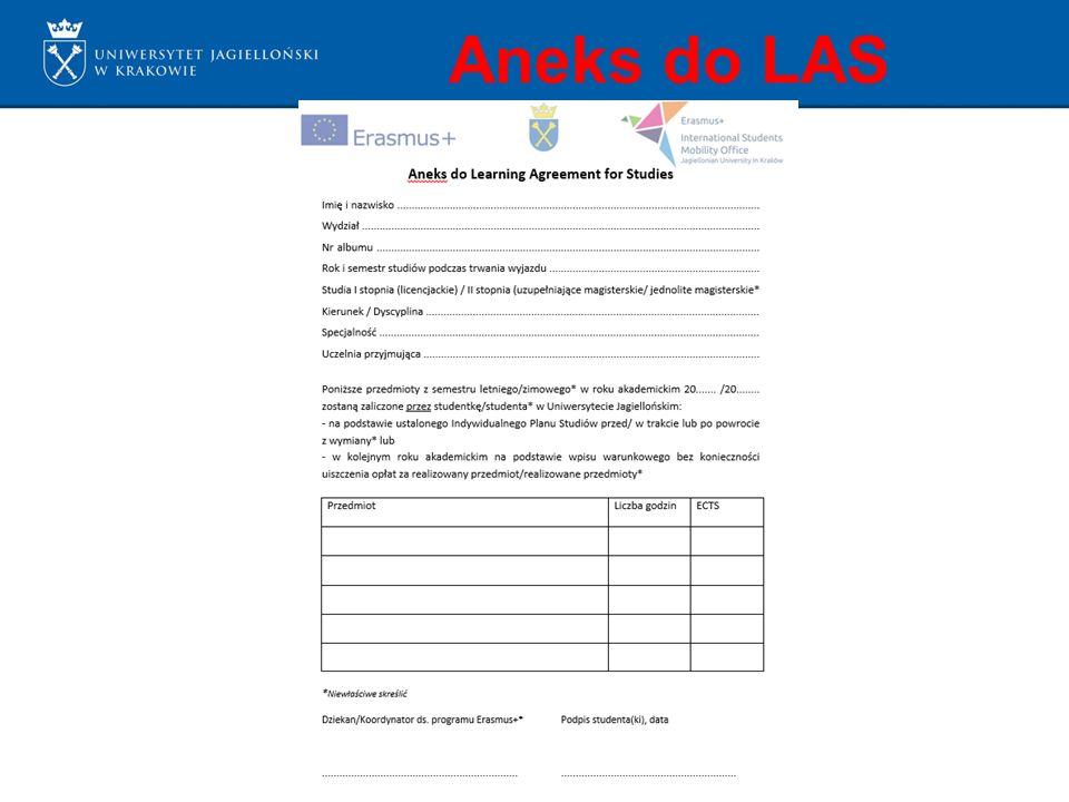 Aneks do LAS