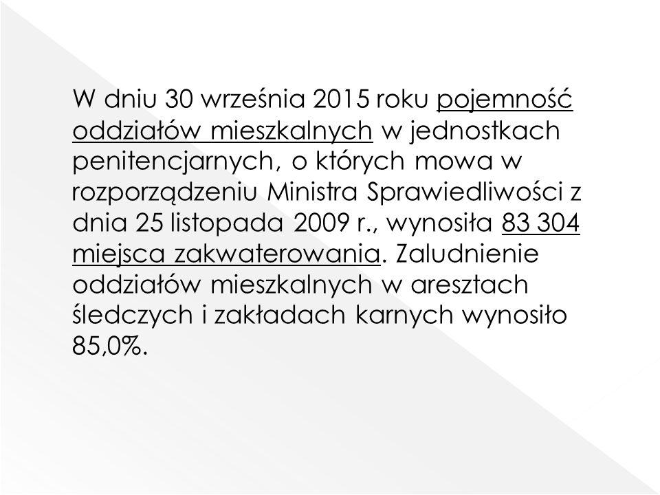 Średni wymiar prawomocnie orzeczonej kary pozbawienia wolności wyrażony w miesiącach (bez kary dożywotniego pozbawienia wolności i kary 25 lat pozbawienia wolności) według stanu w dniu 30.09.2015 r.
