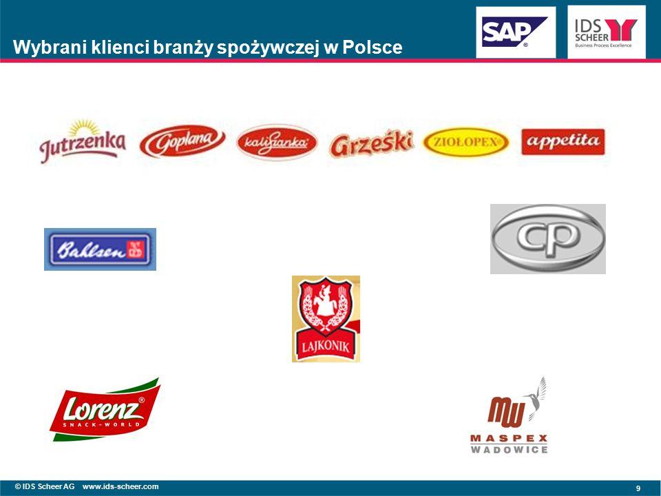 © IDS Scheer AG www.ids-scheer.com 9 Wybrani klienci branży spożywczej w Polsce