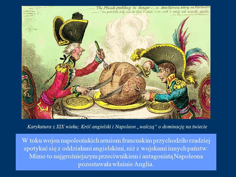 W toku wojen napoleońskich armiom francuskim przychodziło rzadziej spotykać się z oddziałami angielskimi, niż z wojskami innych państw.