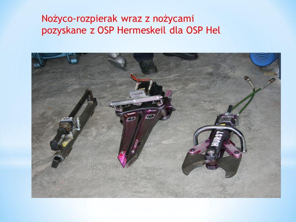 Nożyco-rozpierak wraz z nożycami pozyskane z OSP Hermeskeil dla OSP Hel