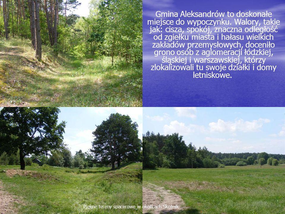 Gmina Aleksandrów to doskonałe miejsce do wypoczynku.