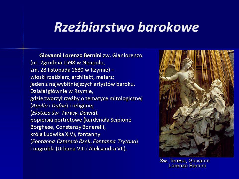 Rzeźbiarstwo barokowe Giovanni Lorenzo Bernini zw.