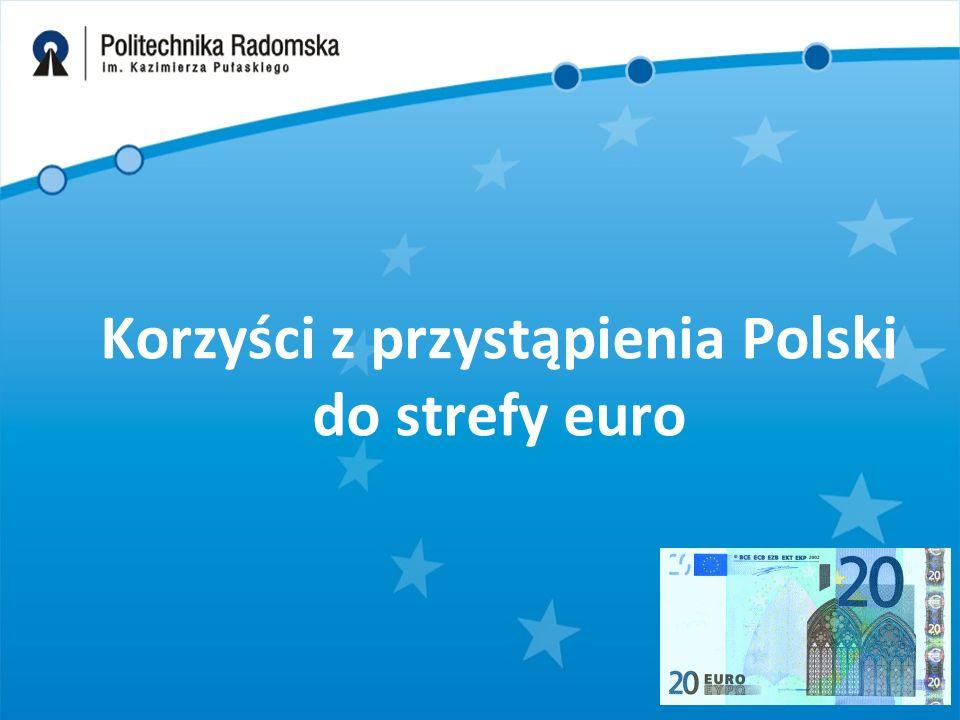 Korzyści z przystąpienia Polski do strefy euro