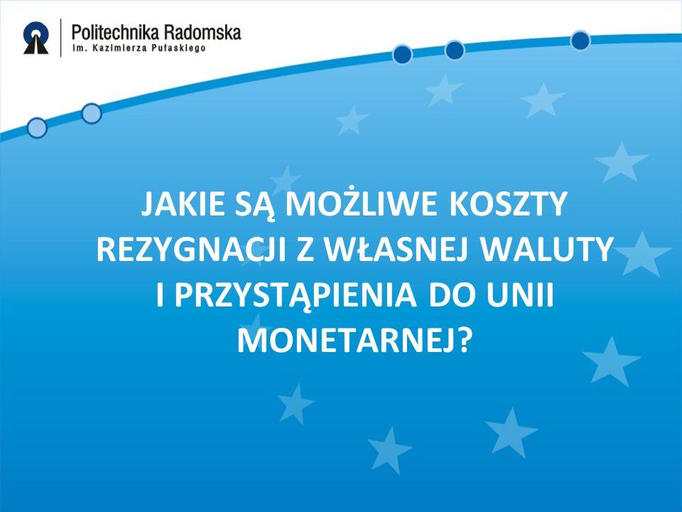 Ryzyko pojawienia się szoków asymetrycznych, aczkolwiek istnieje, to jednak na korzyść Polski, jako członka pełnej unii monetarnej przemawiają: