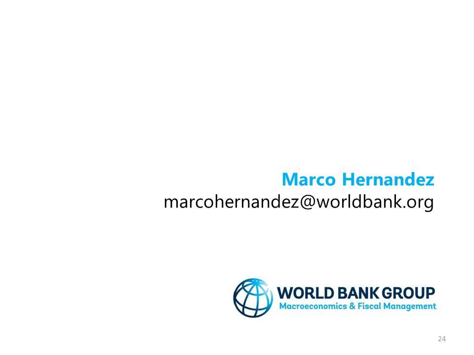 24 Marco Hernandez marcohernandez@worldbank.org