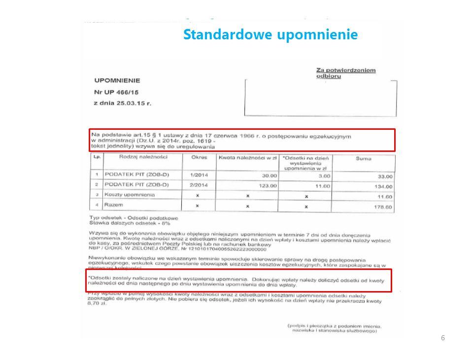 Wpłaty rosną dzięki ułatwieniu – porównanie: z drukiem i bez druku wpłaty 17 9% wzrost