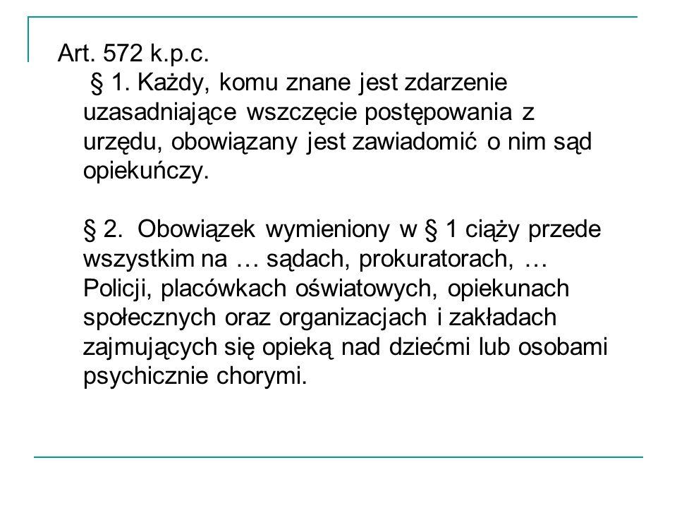 Art. 572 k.p.c. § 1.