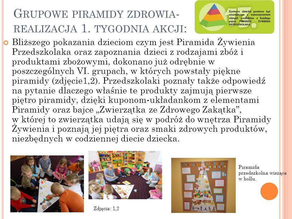 G RUPOWE PIRAMIDY ZDROWIA - REALIZACJA 1.