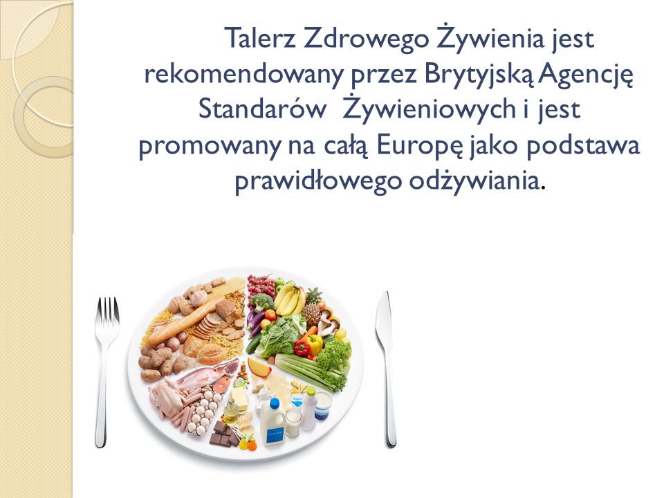 Talerz Zdrowego Żywienia jest rekomendowany przez Brytyjską Agencję Standarów Żywieniowych i jest promowany na całą Europę jako podstawa prawidłowego odżywiania.