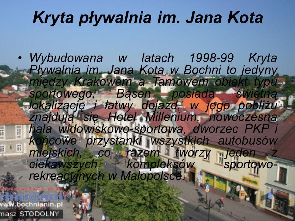Kryta pływalnia im. Jana Kota Wybudowana w latach 1998-99 Kryta Pływalnia im.