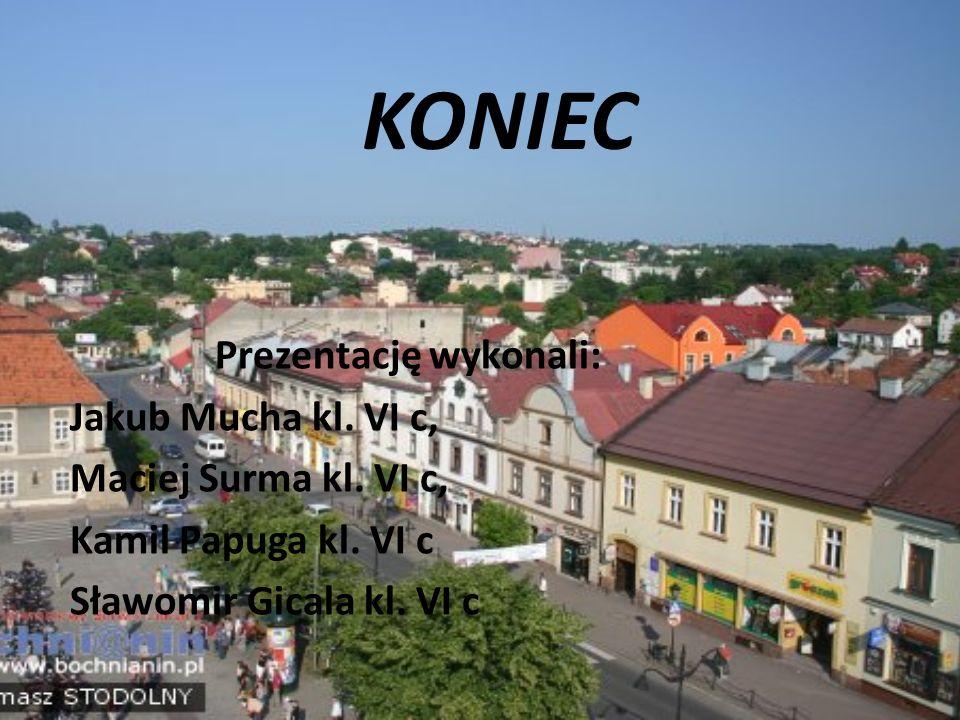 KONIEC Prezentację wykonali: Jakub Mucha kl. VI c, Maciej Surma kl. VI c, Kamil Papuga kl. VI c Sławomir Gicala kl. VI c