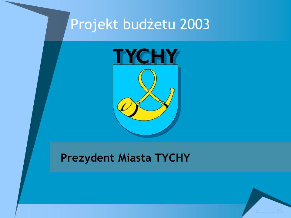 Projekt budżetu 2003 Prezydent Miasta TYCHY