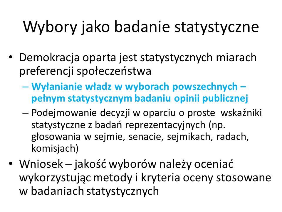 Czy – według statystycznych metod oceny jakości - wybory w Polsce są fałszowane .