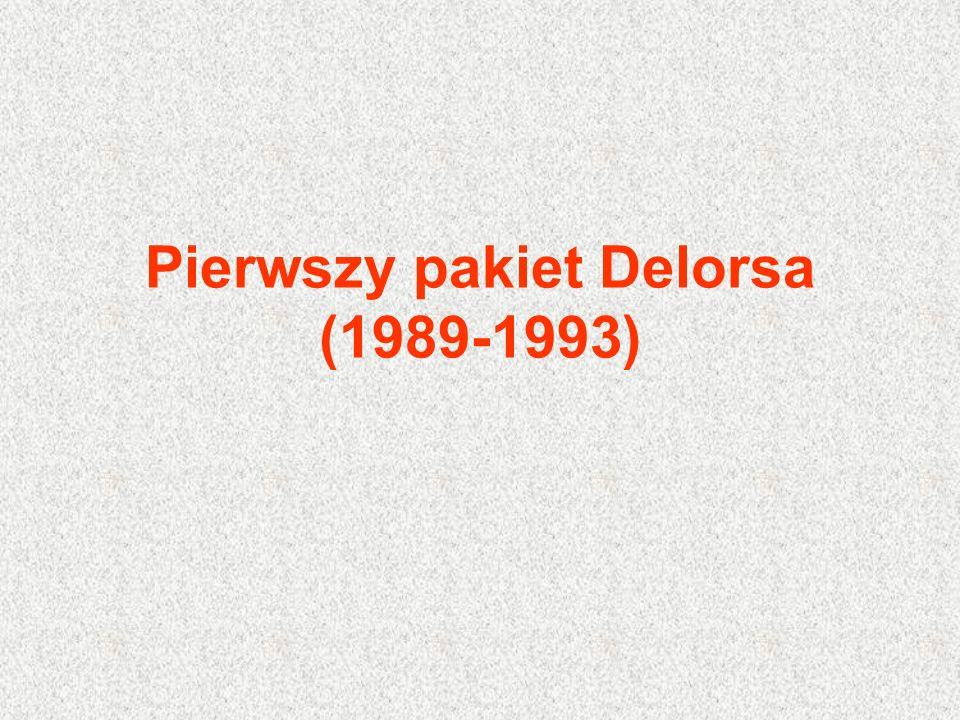 Pierwszy pakiet Delorsa (1989-1993)
