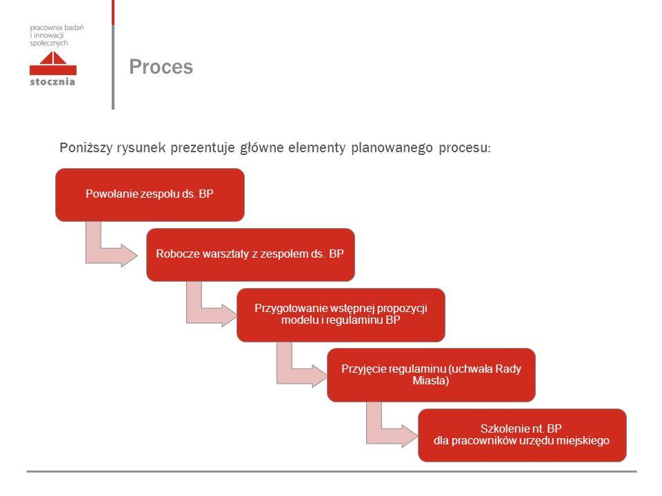 Proces Poniższy rysunek prezentuje główne elementy planowanego procesu: Powołanie zespołu ds.