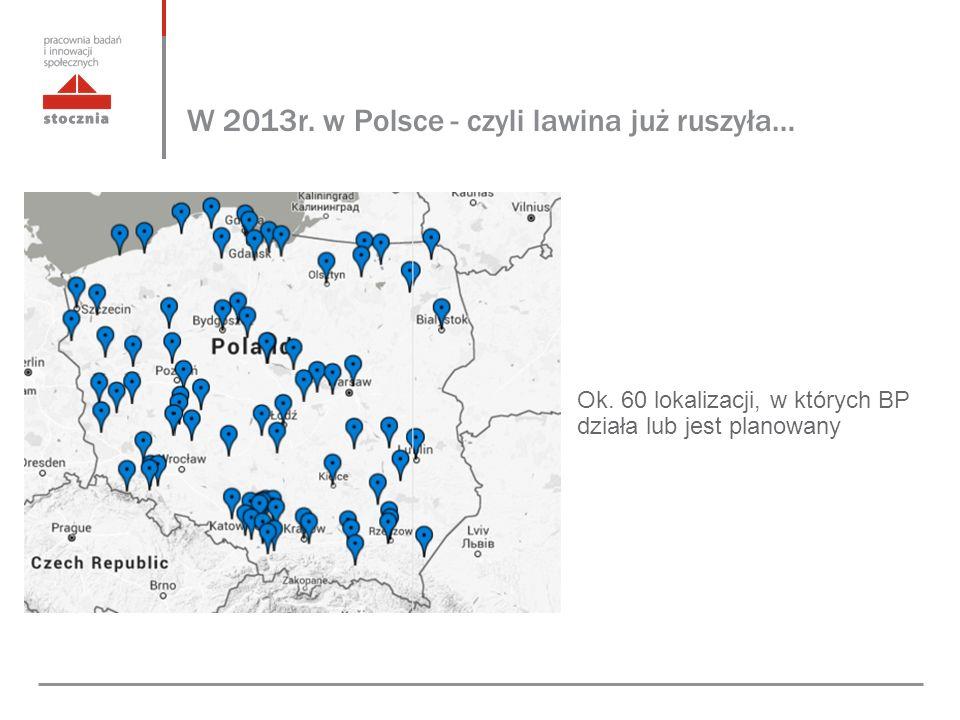 W 2013r. w Polsce - czyli lawina już ruszyła… Ok.