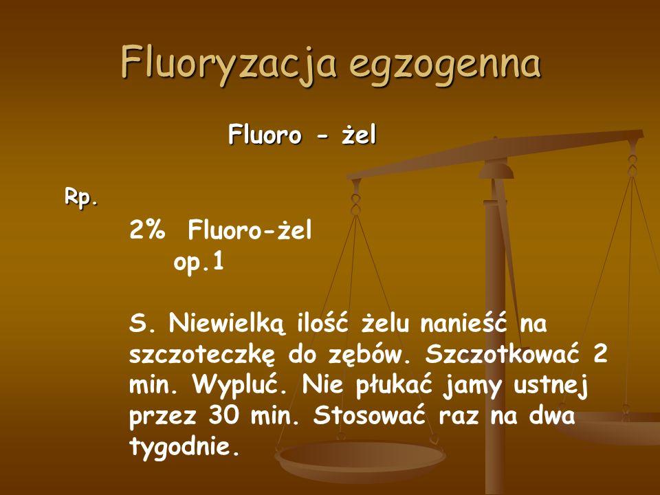 Fluoryzacja egzogenna Fluoro - żel Rp. 2% Fluoro-żel op.1 S.