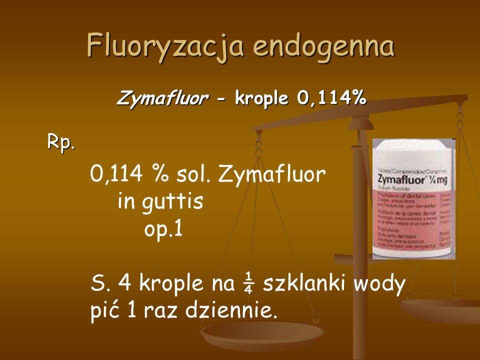 Fluoryzacja endogenna Zymafluor - krople 0,114% Rp.