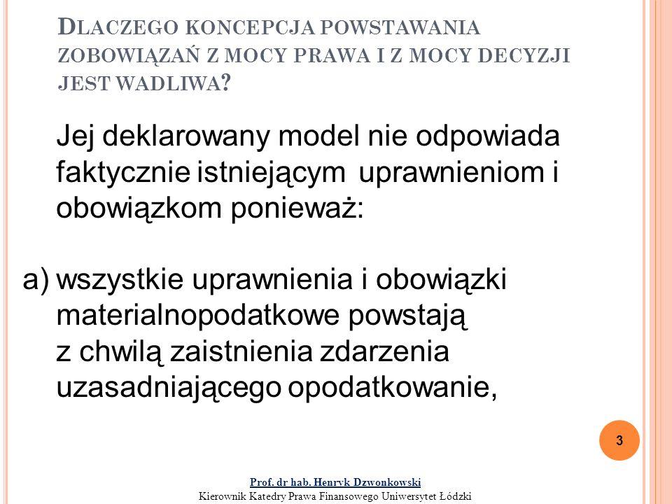 O BOWIĄZEK PODATKOWY – DEFINICJA PRAWNA Art.4.