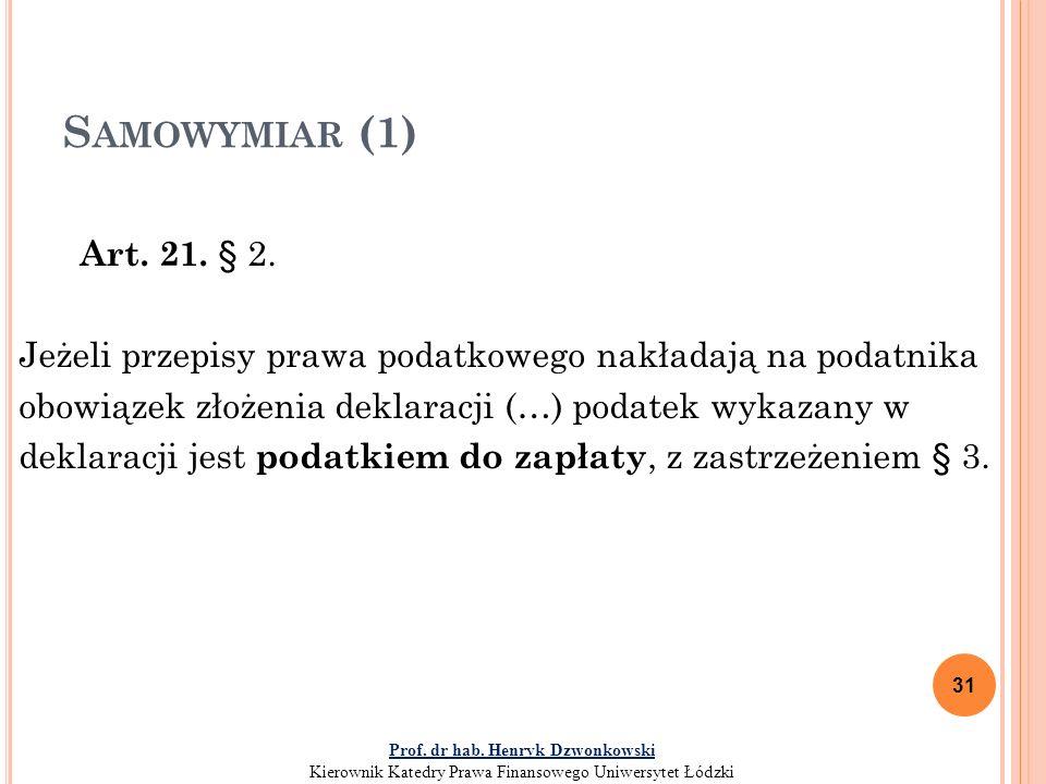 S AMOWYMIAR (1) Art.21. § 2.