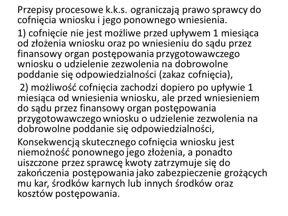 Przepisy procesowe k.k.s.