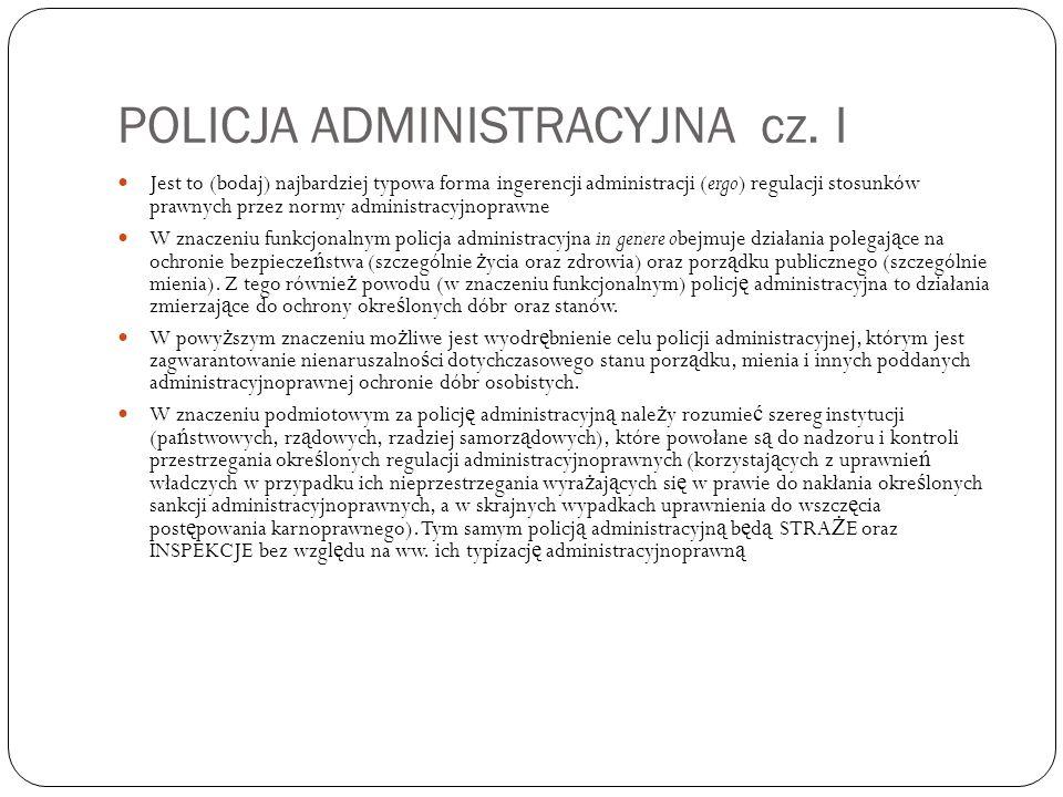 POLICJA ADMINISTRACYJNA cz.