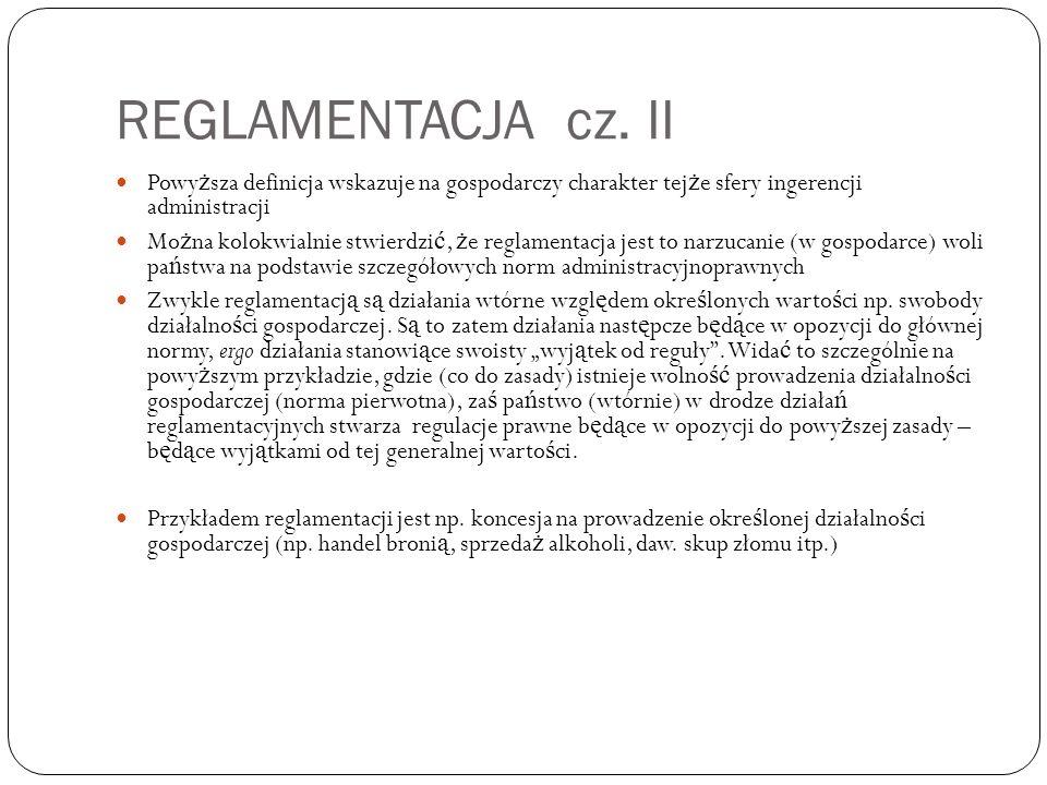 REGLAMENTACJA cz.
